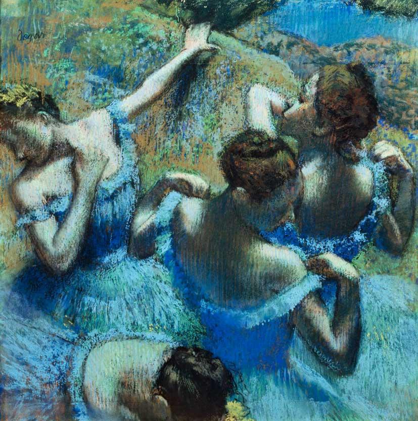 Эдгар Дега. Голубые танцовщицы. 1898