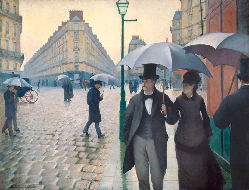 Густав Кайботт. Площадь Европы во время дождя. 1877