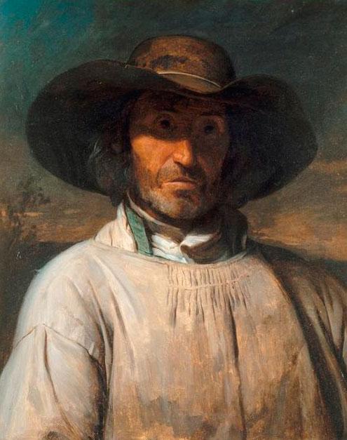 Адольф-Феликс Кальс. Портрет беррийского крестьянина