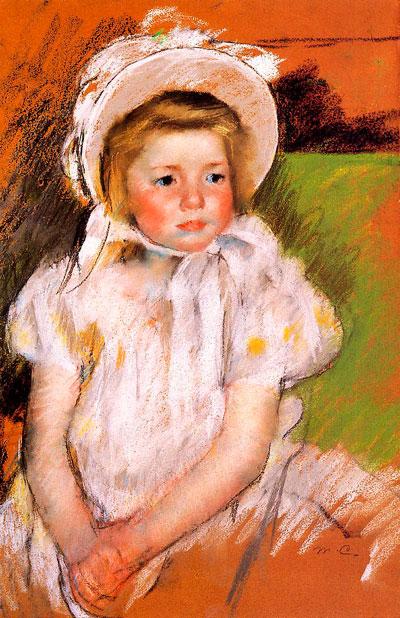 Мэри Кассат. Симона в белом капоте. 1901