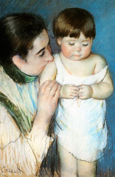 Мэри Кассат. Маленький Томас с мамой. 1893