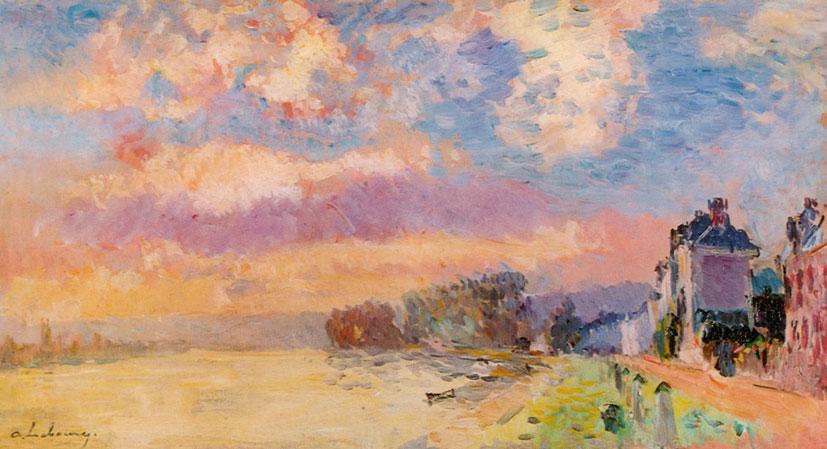 Альбер Лебур. Сена в Дьеппдоле, окрестности Руана. 1905