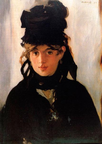 Эдуард Мане. Берта Моризо с букетом фиалок. 1872