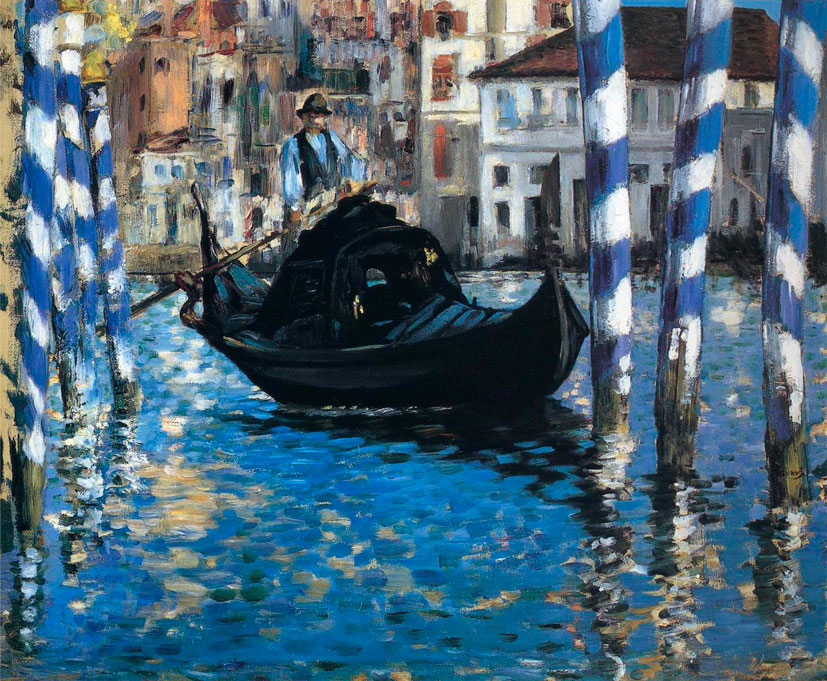 Эдуард Мане. Большой канал в Венеции. Голубая Венеция. 1874