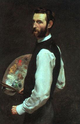 Фредерик Базиль. Автопортрет. 1865-1866
