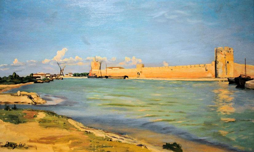 Фредерик Базиль. Крепостной вал в Эгес-Морте. 1867