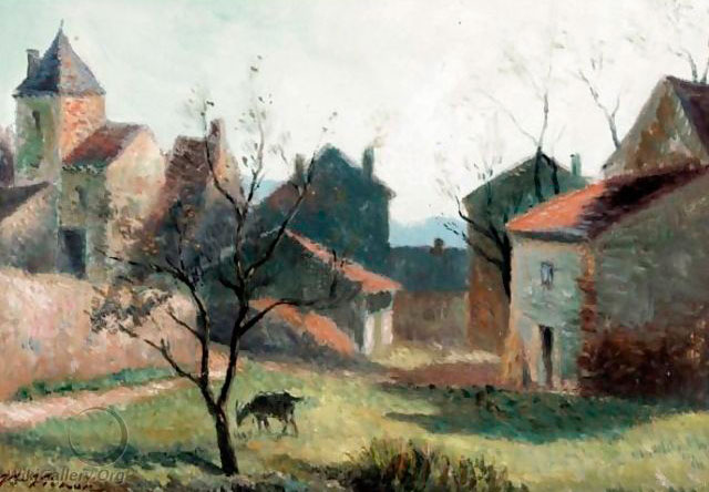 Виктор Виньон. Пейзаж с козой