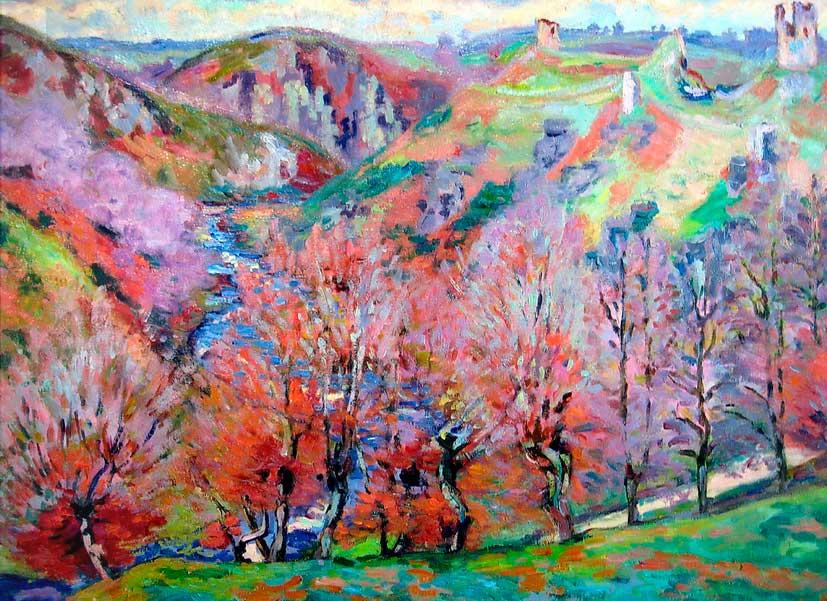 Арман Гийомен. Пейзаж с руинами. 1897