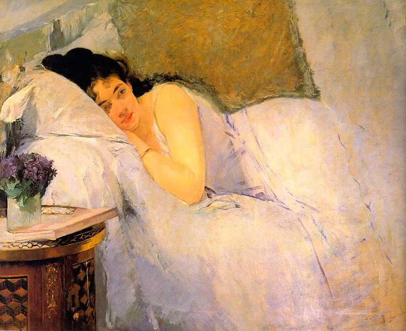 Ева Гонсалес. Утреннее пробуждение. 1876